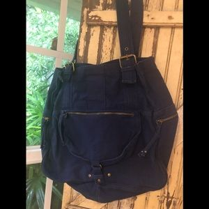 Converse jeans purse with great pockets navy blue